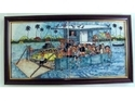 Ferry Boat Painted Tile