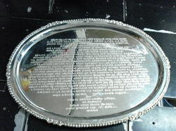Silver Plate Engraving
