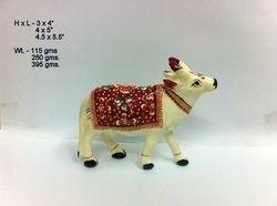 Meenakari Cow Sculptures