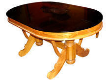 Teak Wood Dinning Table With Glass Top Greenline Shoppe