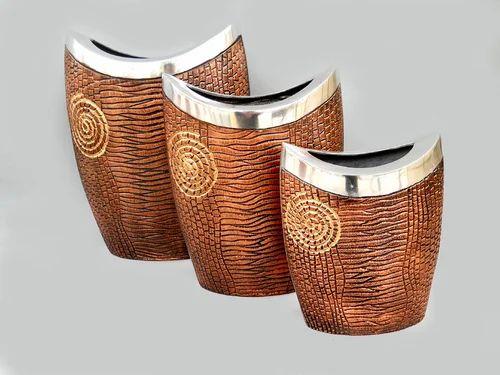 Decorative Aluminium Vases Flower Pots Vases Tihami Impex In