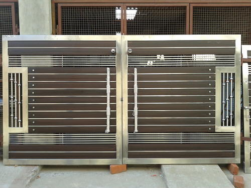 Wooden and steel gates steel gate manufacturer from - Sliding main gate design for home ...