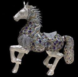 Semi Precious Horse Silver Stone Articles