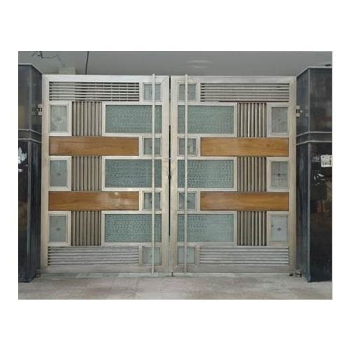 Stainless Steel Modular Main Gate Nisha Steel Fabrication Chennai