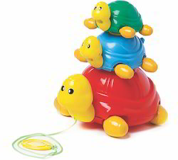 Pull Along Turtle Family Toy