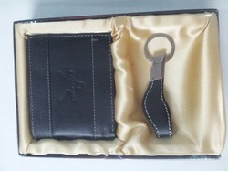 Black Leather Gents Wallet with Key Holder Gift Set