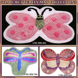 Shape Butterfly Bathmat Collections