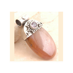 925 Sterling Silver Exotic Pendent Copper Rutile