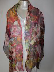 Silk Digital Printed Stoles