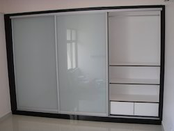 Glass and Aluminium Sliding Cupboard
