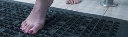 Bathroom Anti-Slip Rubber Floor Mats With Vacuums