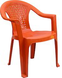 Net Design Medium Back Plastic Chair