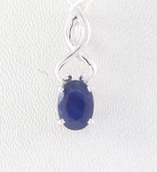 18K Sapphire Gemstone Gold Pendent