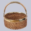 Round Table Fruit Wicker Basket