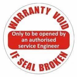 Custom Made Warranty Void Label, Packaging Type: Standard