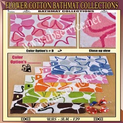 Flower Cotton Bathmat