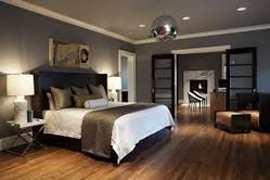 Bedroom wooden flooring