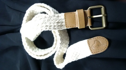 Cotton- Leather Braided Belt