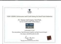 Crisil Certificate