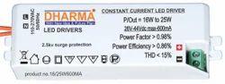 LED Driver 16-25W / 26-43V/600MA