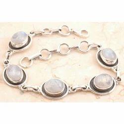 Rainbow Moon Stone Bracelet