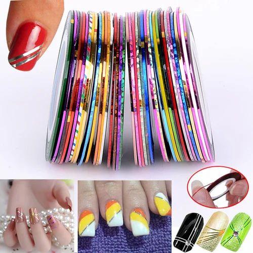 Nail Art Striping Roll Tape Line Transfer Nail Sticker At Rs 7