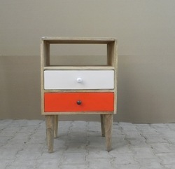 Wooden 2 Drawer Bedsider