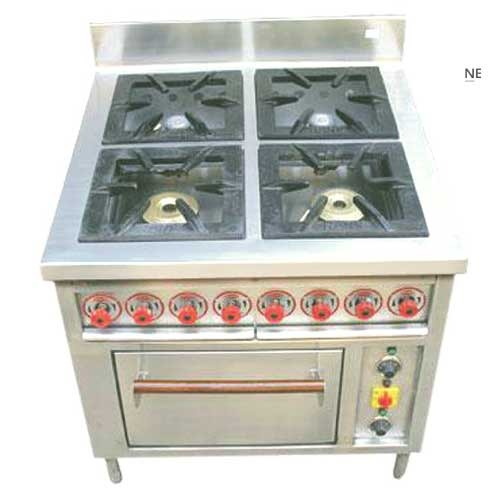 Stainless Steel 4 Burner Gas Range