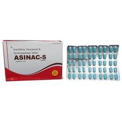 Aceclofenac 100 mg  Paracetamol 325 mg Serratiopeptidase 1