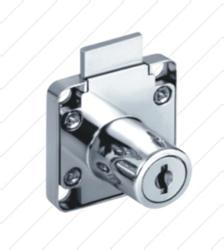 Jainson Multipurpose Trio 25MM Drawer Lock, Chrome, Packaging Size: 120 Piece