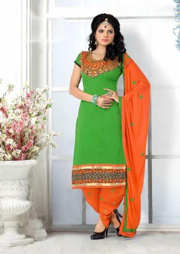 1e27ec4b83 Chanderi Cotton Unstiched Patiyala Salwar Suit at Rs 1059 /piece ...