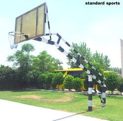 Basket Ball Pole with 22 mm Maleshian Fiber Glass Extra Heavy Model