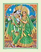 Radha Krishna Statue Poster