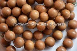 Natural Dark Golden Brown Sandalwood Buddhist Mala Beads