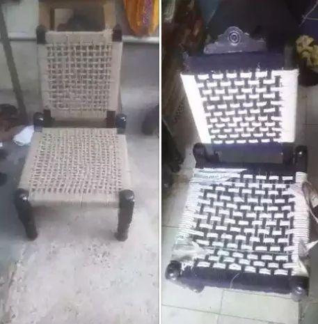 Jute Chair Wooden