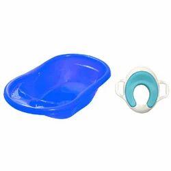 Sunbaby Bathtub With Soft Cushion Potty Seat