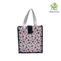 Jute Printed Beach Shopping Bag
