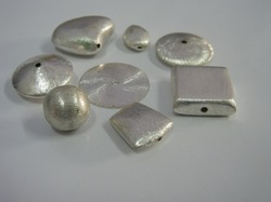 Sterling Silver Brushed Beads