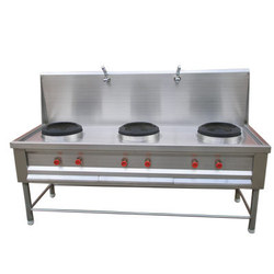 STAINLESS STEEL Mild Steel 3 Gas Burner, For Commercial, On Requierment