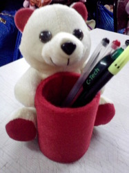 Pen Stand with Teddy Bear