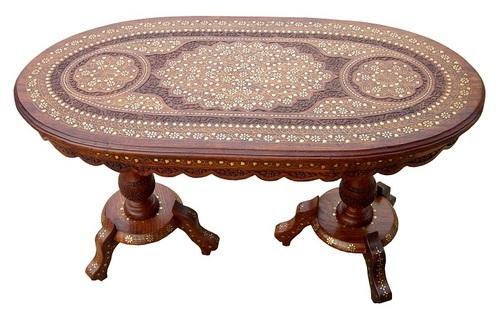 A S Sons International Oval Shape Wooden Coffee Table For Home Rs 20000 Piece Id 8771350948