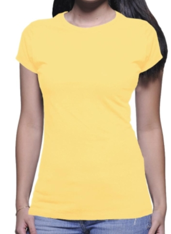 Plain Yellow Tee For Women Women T Shirts Female T Shirts Women Tees मह ल ओ क ट शर ट ल ड ज ट शर ट In Karkal Sleeveup Id 7937492548