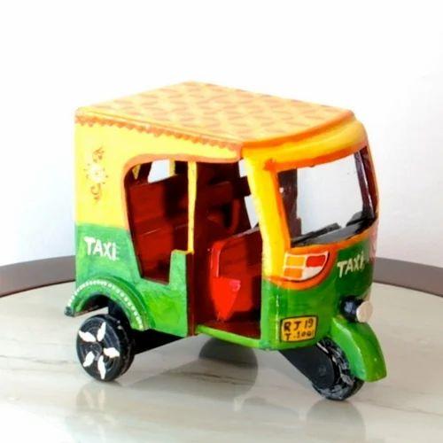 Wooden Handicraft Miniature Auto Rickshaw लकड क