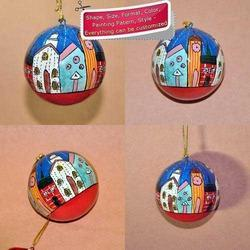Country Side - Holiday Decoration Hand Painted Bauble