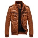 Brown Casual Leather Jacket Msg 0001
