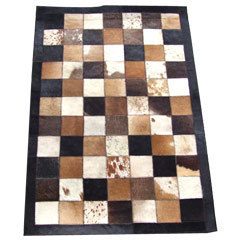 Leather Hairon Rug