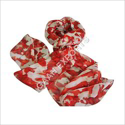 Red Female Designer Silk Scarves