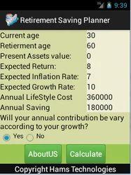 hams technologies service provider of retirement saving planner