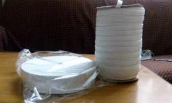 Polyester White Plain Inner Elastic