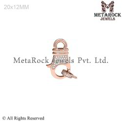 Pave Setting Diamond Rose Gold Clasp Findings Jewelry